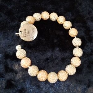 Wire Cuff Beads Bangal Bracelet